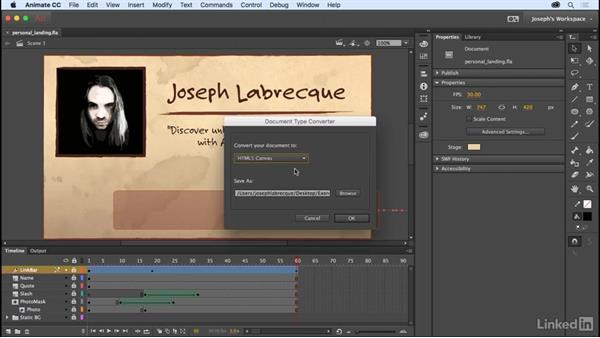 Target platform matters: Learn Adobe Animate CC: The Basics