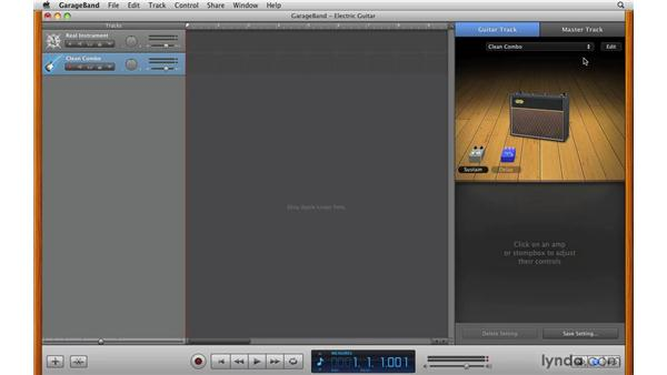 Working with amp combo presets: GarageBand '09 Essential Training