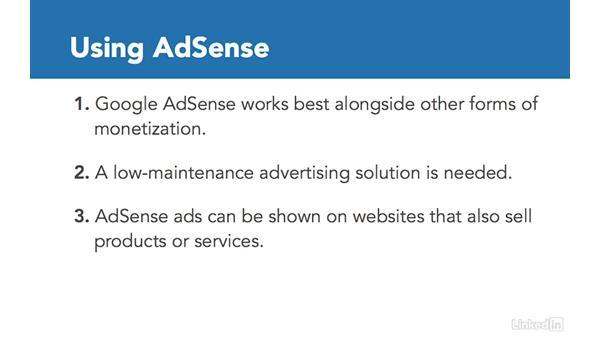 When to use AdSense: Learn Google AdSense: The Basics