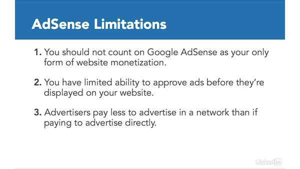 Understanding AdSense limitations: Learn Google AdSense: The Basics