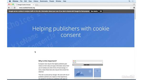 Getting consent from your users: Learn Google AdSense: The Basics