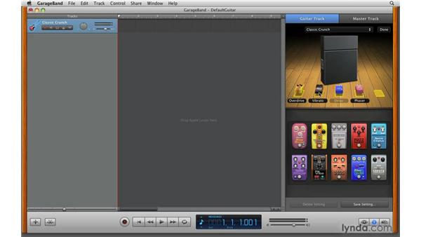 Working with stomp boxes: GarageBand '09 Essential Training
