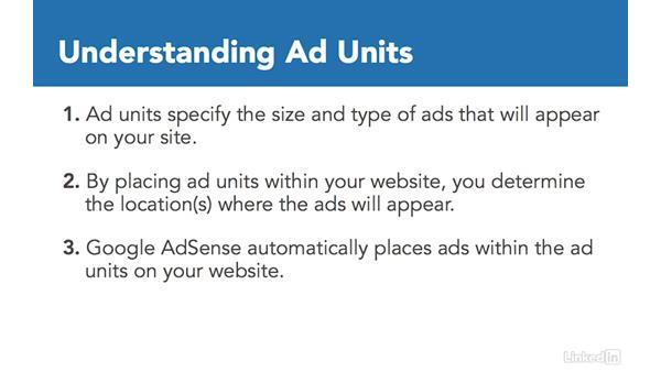 Understanding ad units: Learn Google AdSense: The Basics