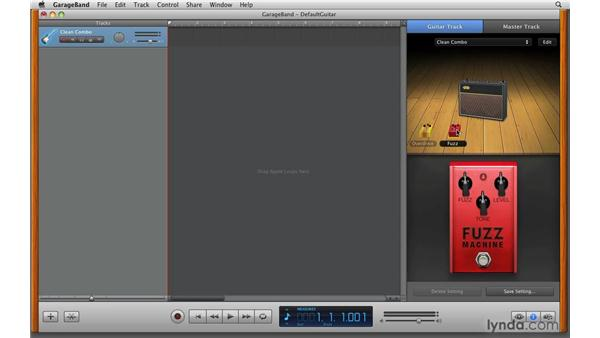 Using distortion and overdrive effects: GarageBand '09 Essential Training