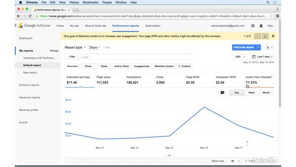 Reviewing ad viewability: Learn Google AdSense: The Basics