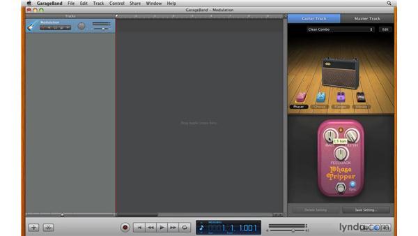 Using modulation effects: GarageBand '09 Essential Training