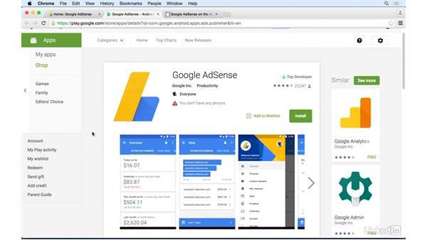 Downloading the AdSense app: Learn Google AdSense: The Basics