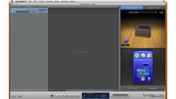 Using the Echo (Delay) pedal: GarageBand '09 Essential Training