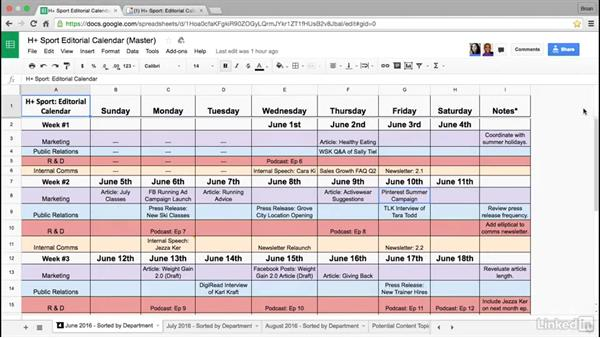 How to use the exercise files: Create an Editorial Calendar