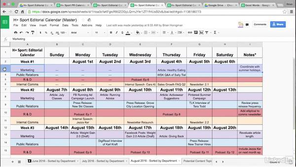 Types of editorial calendars: Create an Editorial Calendar