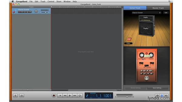 Using Auto-Wah: GarageBand '09 Essential Training