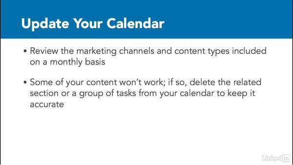Organize your editorial calendar: Create an Editorial Calendar