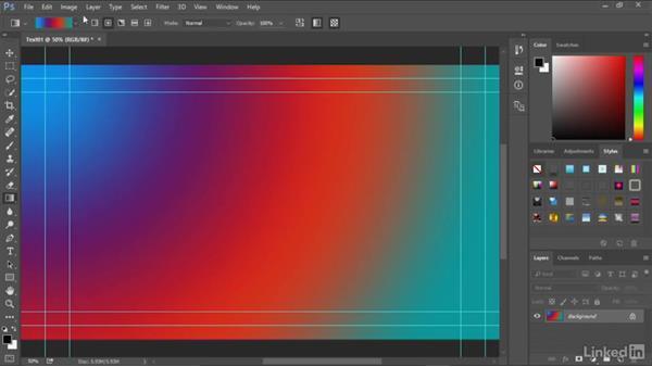 Using Photoshop to generate a background: Premiere Pro Guru: Optimizing Titles