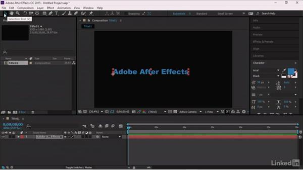 Creating the title in After Effects: Premiere Pro Guru: Optimizing Titles