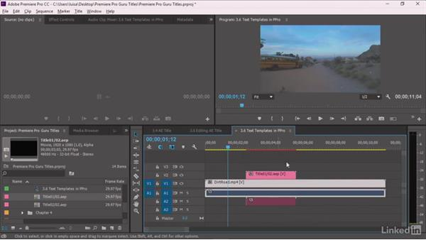 Creating an After Effects title editable in Premiere Pro: Premiere Pro Guru: Optimizing Titles