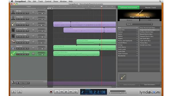 Recording an instrument: GarageBand '09 Essential Training