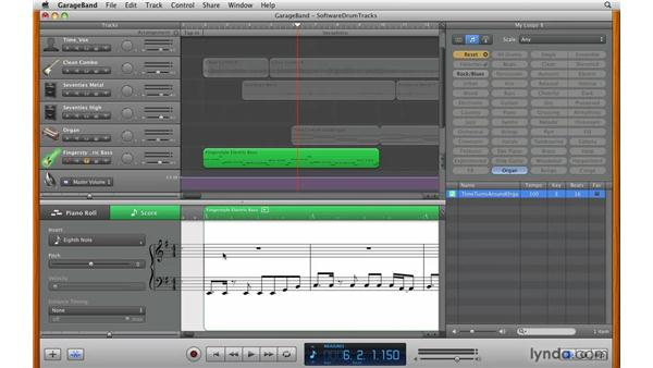 Editing in the Score view: GarageBand '09 Essential Training