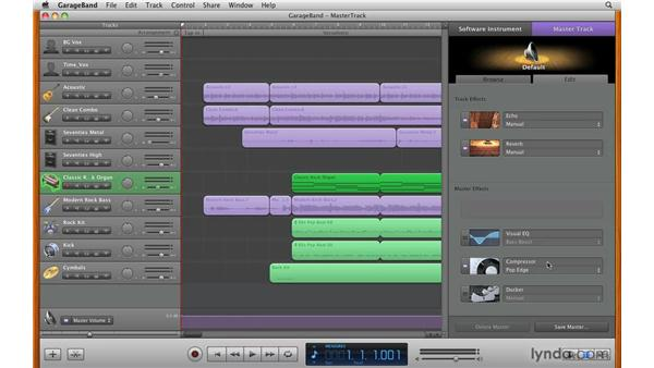 Mastering a song: GarageBand '09 Essential Training