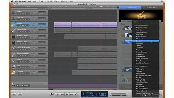 Reviewing other effects: GarageBand '09 Essential Training