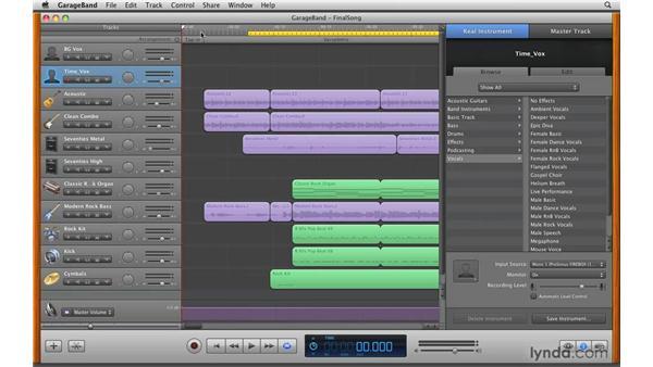 Creating a ringtone: GarageBand '09 Essential Training