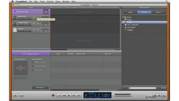 Creating podcasts and scoring video: GarageBand '09 Essential Training