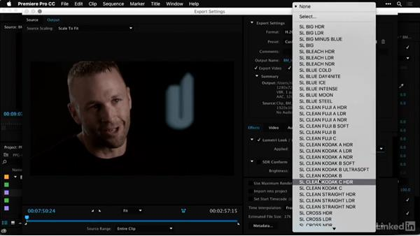 Applying LUTs on export: Premiere Pro Guru: LUTs and Look Files