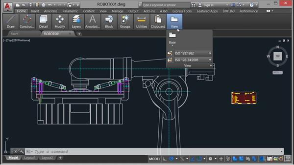 Using the ribbon: AutoCAD Mechanical Essential Training