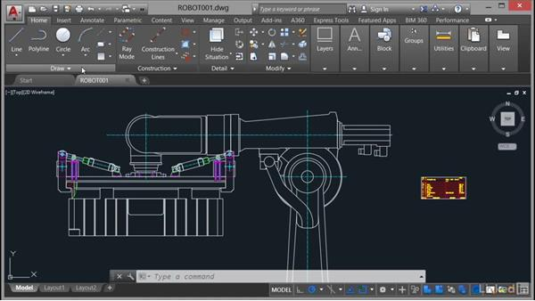 Changing workspaces: AutoCAD Mechanical Essential Training