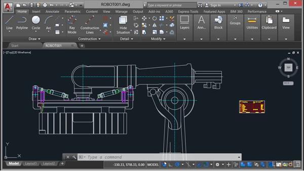 Using the status bar: AutoCAD Mechanical Essential Training
