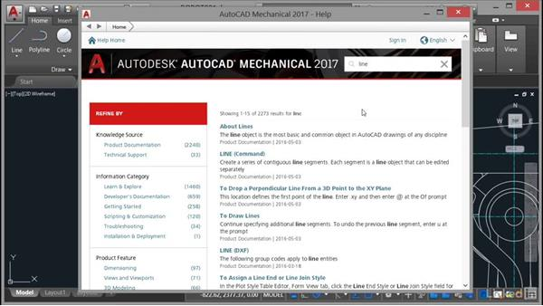 Accessing help: AutoCAD Mechanical Essential Training