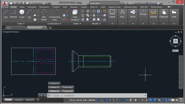Controlling the layer display: AutoCAD Mechanical Essential Training