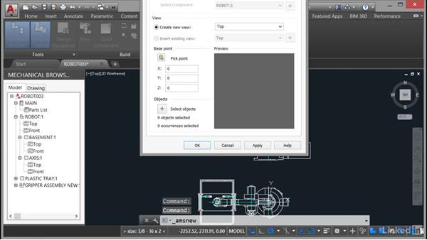 Creating a mechanical drawing using structure: AutoCAD Mechanical Essential Training