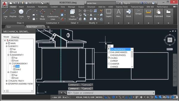 Editing structured data: AutoCAD Mechanical Essential Training