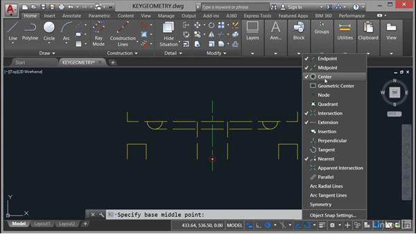 Creating geometry using the core design tools: AutoCAD Mechanical Essential Training