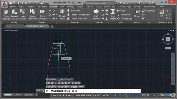 Adding parts and holes: AutoCAD Mechanical Essential Training