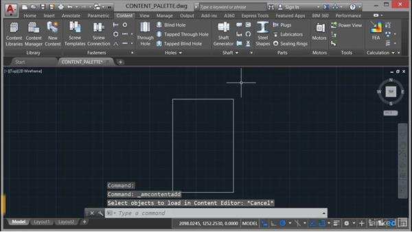 Using the Content Libraries palette: AutoCAD Mechanical Essential Training