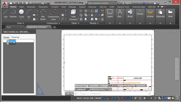 Viewports and details in layouts: AutoCAD Mechanical Essential Training