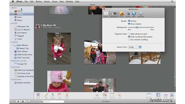 Reviewing the interface preferences: iPhoto '09 Essential Training