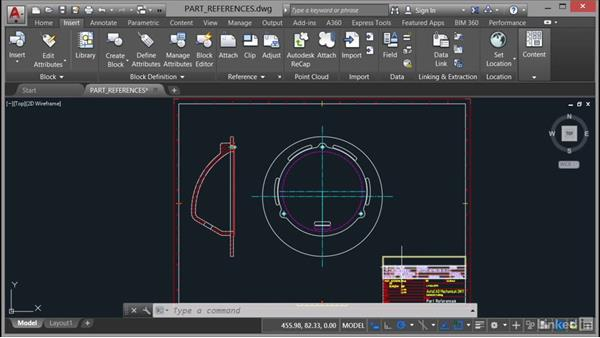 Creating part references: AutoCAD Mechanical Essential Training