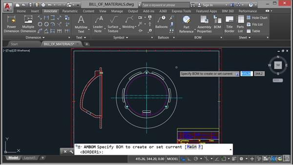 Creating and editing a bill of materials: AutoCAD Mechanical Essential Training