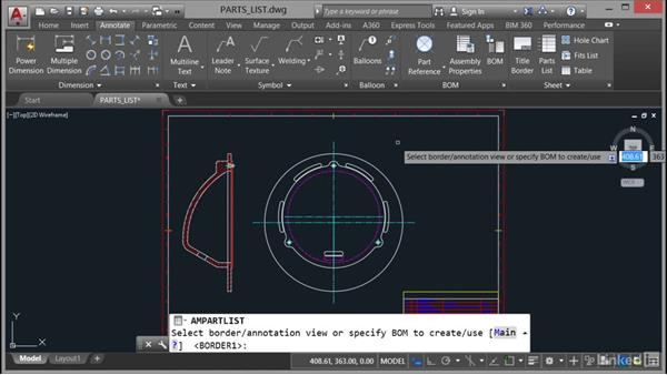 Inserting and editing a parts list: AutoCAD Mechanical Essential Training