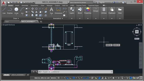 Removing mechanical content from a drawing: AutoCAD Mechanical Essential Training