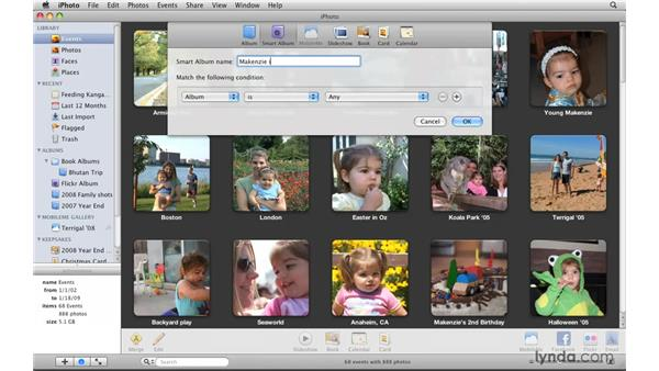 Creating Smart Albums: iPhoto '09 Essential Training