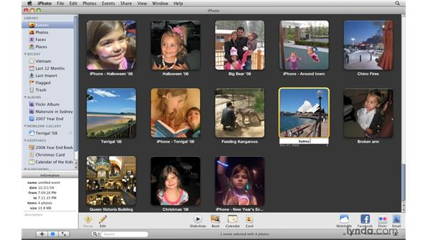 Renaming events: iPhoto '09 Essential Training