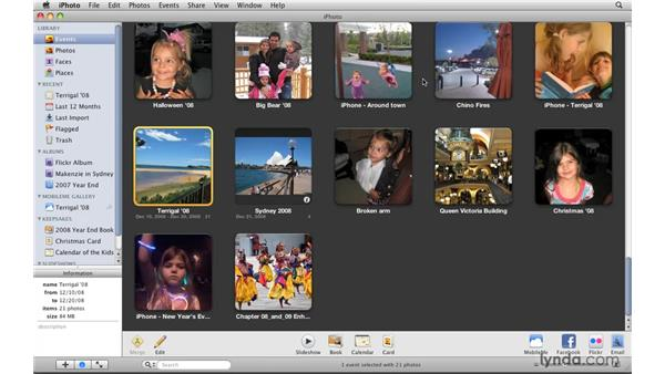 Creating and merging events: iPhoto '09 Essential Training