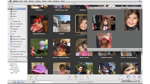 Splitting events: iPhoto '09 Essential Training