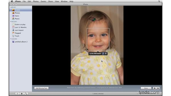 Connecting faces and photos: iPhoto '09 Essential Training