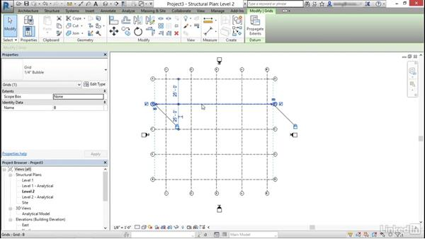 Create and modify structural grids: Cert Prep: Revit Structure Certified Professional