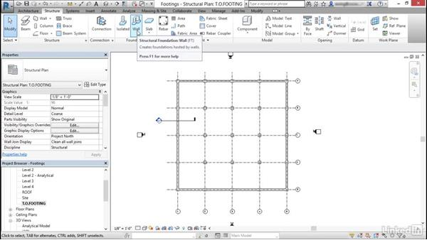 Place footings: Cert Prep: Revit Structure Certified Professional