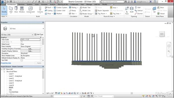 Add beams: Cert Prep: Revit Structure Certified Professional